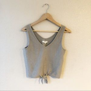 Madewell tie front tank top